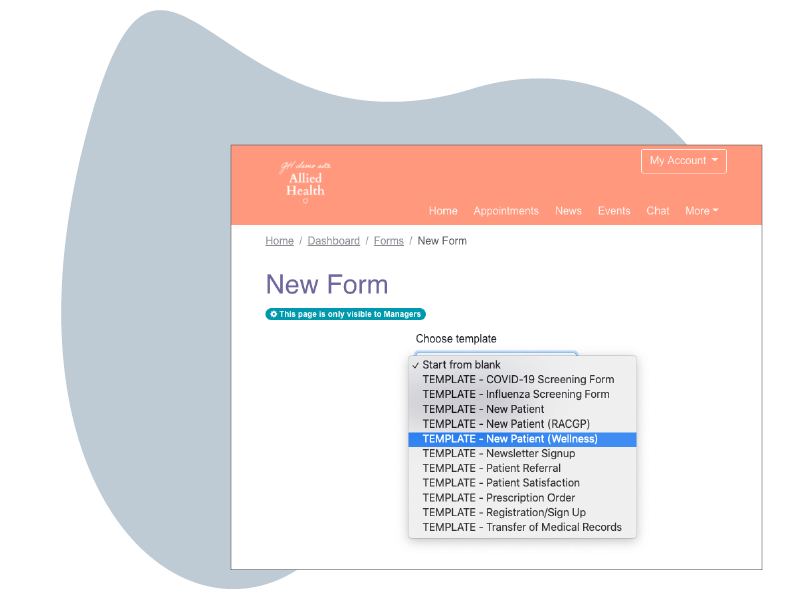 HotHealth - Create forms one platform